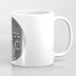 Trump Israel 70th Anniversary Temple Coin Art (Front Side) Coffee Mug