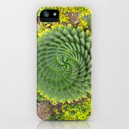 Swirly Succulent iPhone Case