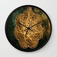 celtic Wall Clocks featuring Celtic Gold by Lynn Bolt
