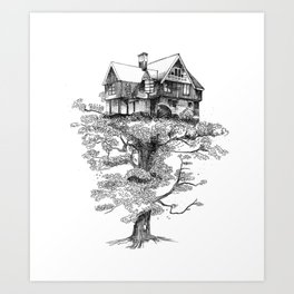 Hogar Sostenido/Supported Home Art Print