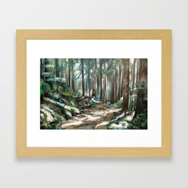 Forest Trail Framed Art Print