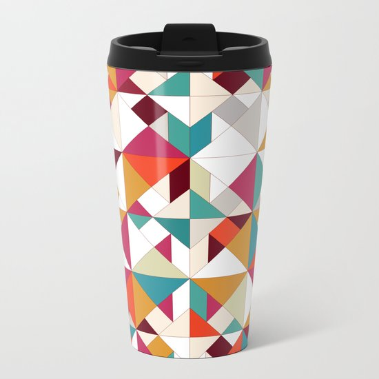 tangram geo Metal Travel Mug