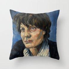 Iris Murdoch Throw Pillow