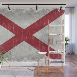 State flag of Alabama - Vintage version Wall Mural