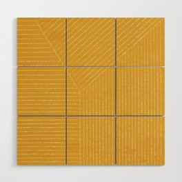 Lines / Yellow Wood Wall Art