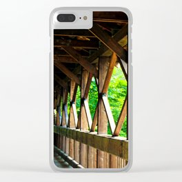 Covered Bridge 2 Clear iPhone Case
