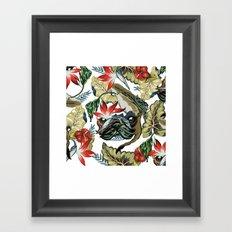 Tropical Pug Framed Art Print