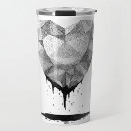 Dotted Heart Travel Mug