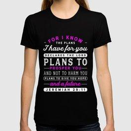 Christian Jeremiah 29 11 Hope Faith Bible Verse Scripture Premium design T-shirt