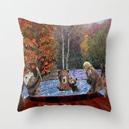 Hot Tub Party Throw Pillow