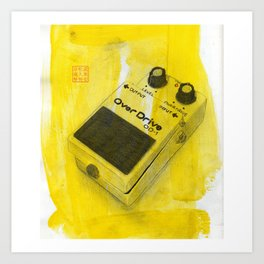 Overdrive Pedal Art Print