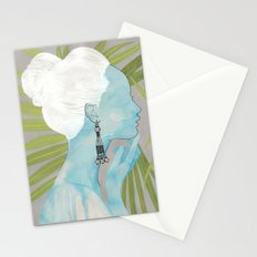 girls with silver jewelry / palmiye II Stationery Cards