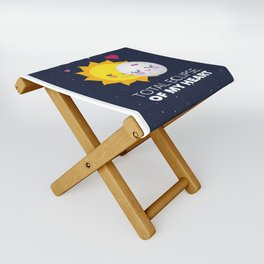 Total eclipse of my heart Folding Stool
