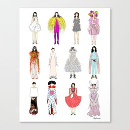 Outfits of Bjork Fashion Canvas Print