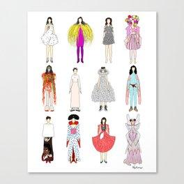 Outfits of Bjork Fashion Leinwanddruck