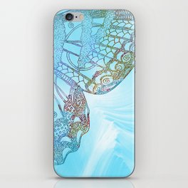Colorful Abstract Butterfly Design iPhone Skin
