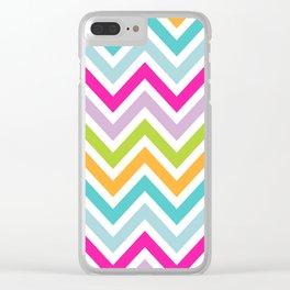 Bright Stripe Chevron Clear iPhone Case