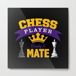 Chess, Chess Chess game, Chess Board game Metal Print
