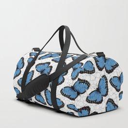 Blue morpho butterflies Duffle Bag