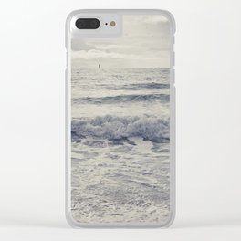 the distant birds Clear iPhone Case