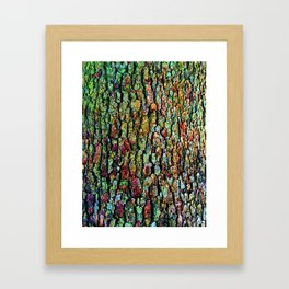 Anatural Abstraction of Tree Bark Framed Art Print