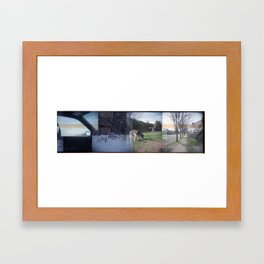 Home Collage 2 Framed Art Print