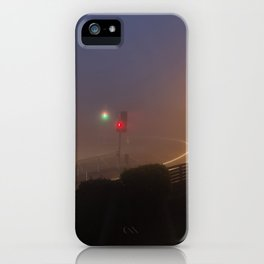 Traffic lights in the fog iPhone Case