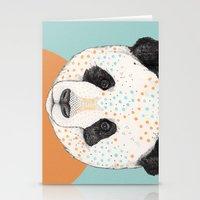 panda Stationery Cards featuring Polkadot Panda by Sandra Dieckmann