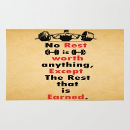 Expect the rest that have earned Gym Fitness Quote Rug