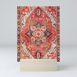 Heriz Azerbaijan Northwest Persian Rug Print Mini Art Print