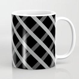 Gray White Square Pattern Geomeric Coffee Mug
