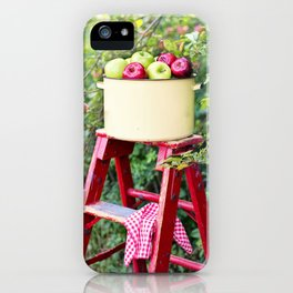 Apple Picking Ladder and Basket iPhone Case