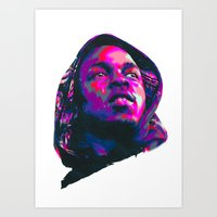 kendrick lamar Art Prints featuring KENDRICK LAMAR : NEXTGEN RAPPERS by mergedvisible