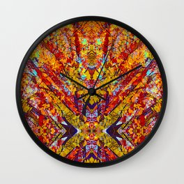 Carnival of Leaves Wall Clock