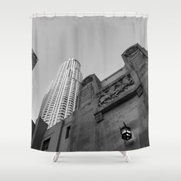 Grey skies Shower Curtain