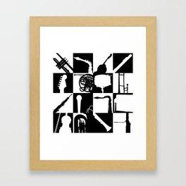 Pop Music Art B&W Framed Art Print