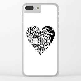 Spread Love Clear iPhone Case