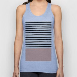 Peach x Stripes Unisex Tank Top