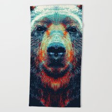 Bear - Colorful Animals Beach Towel