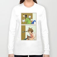 kingdom hearts Long Sleeve T-shirts featuring KINGDOM HEARTS: WINNIE THE POOP   by Gianluca Floris