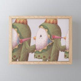 3 Trumpet Birds Framed Mini Art Print