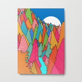The colourful rainbow forest  Metal Print