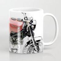 ducati Mugs featuring Ducati Scrambler by Larsson Stevensem