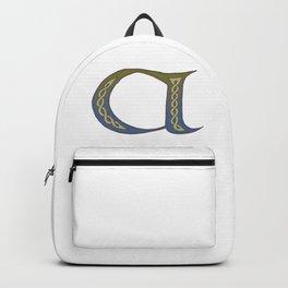 Celtic Knotwork Alphabet - Letter A Backpack