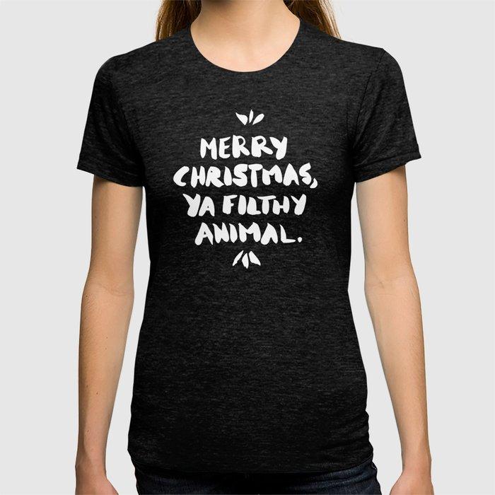 Merry Christmas Ya Filthy Animal Shirt.Merry Christmas Ya Filthy Animal Red T Shirt
