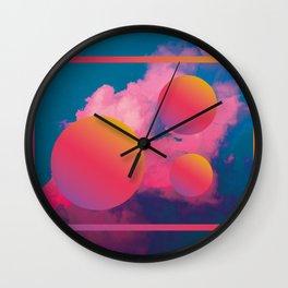 Vaporwave sky 1 / Rise / 80s / 90s / aesthetic Wall Clock
