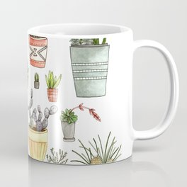 Potted Succulents Coffee Mug