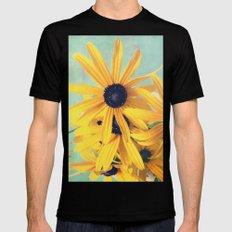 Sweet Yellow Flowers Mens Fitted Tee MEDIUM Black