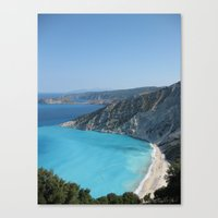 greece Canvas Prints featuring Greece by Melia Metikos