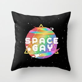 Space Gay Throw Pillow